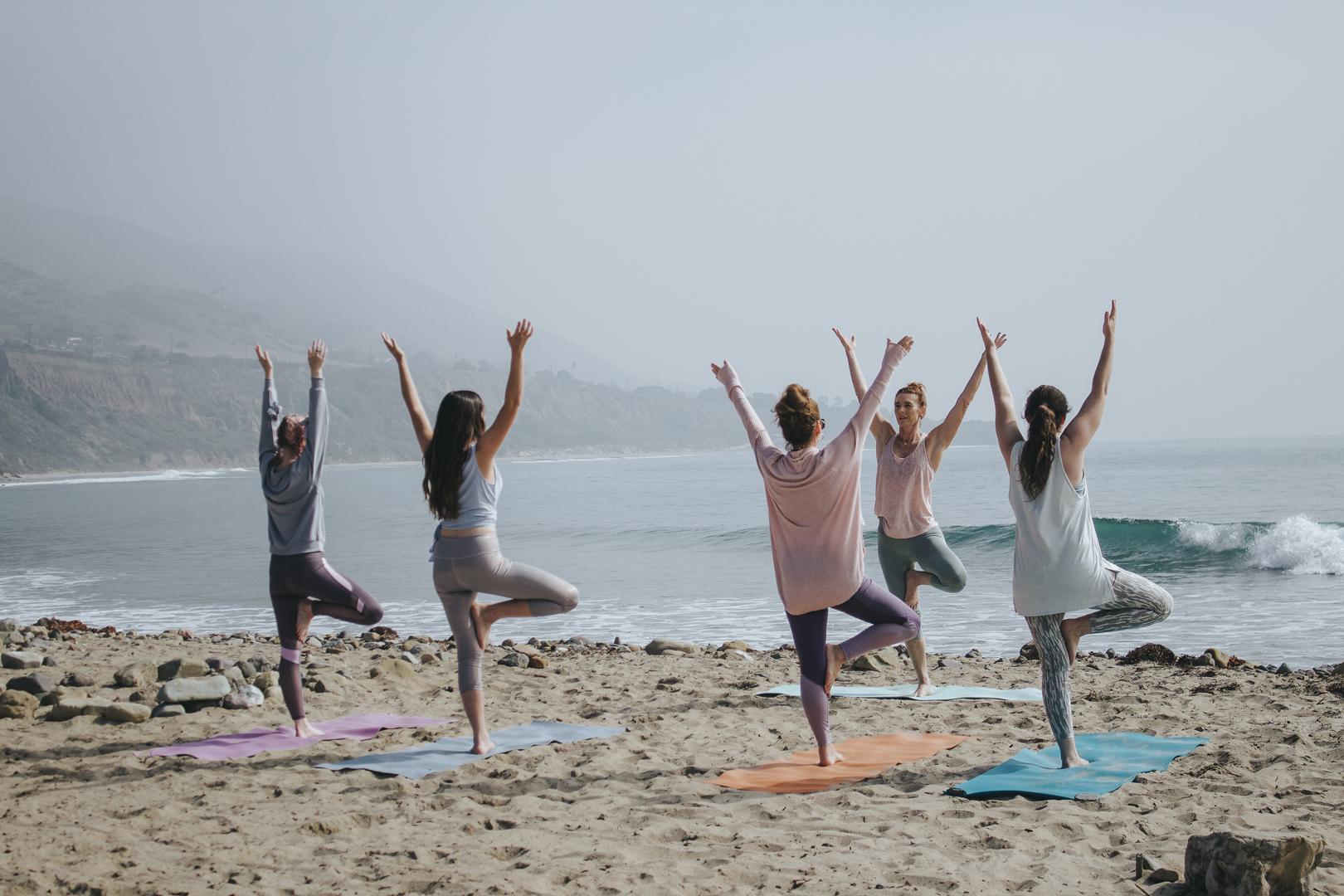 1 beach yoga